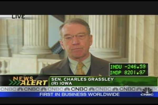Sen. Grassley on Geithner
