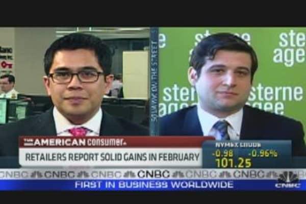 Retailers Report Feb. Gains