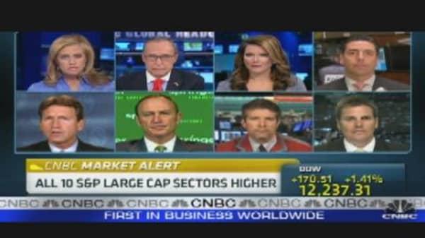 Techs, Financials Among Leaders