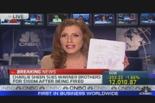 Charlie Sheen Sues Warner Bros.