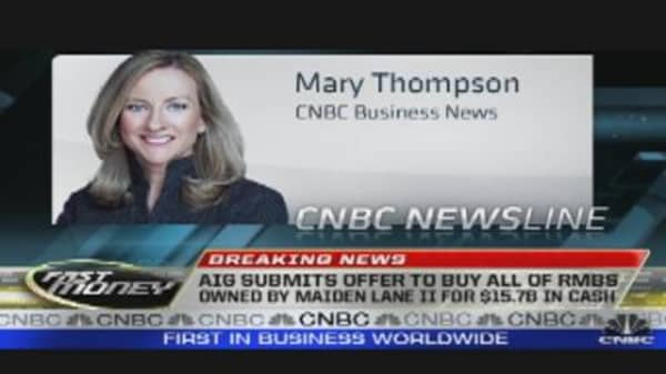 AIG Offers to Buy Maiden Lane II Assets