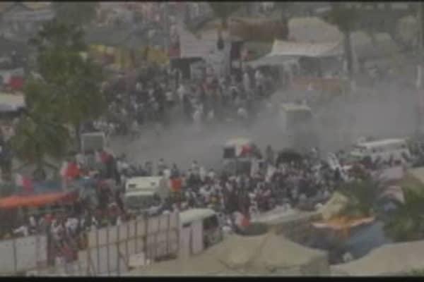 Bahrain Protestors Shot