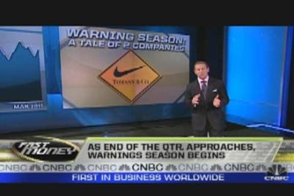 Earnings: Early Warning Season