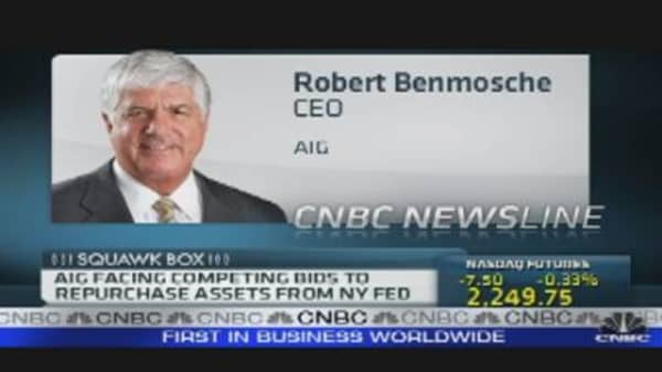 AIG'sCEO on Fed's Competing Bids
