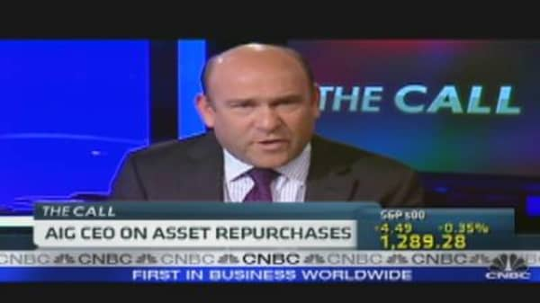 AIG CEO on Asset Repurchases