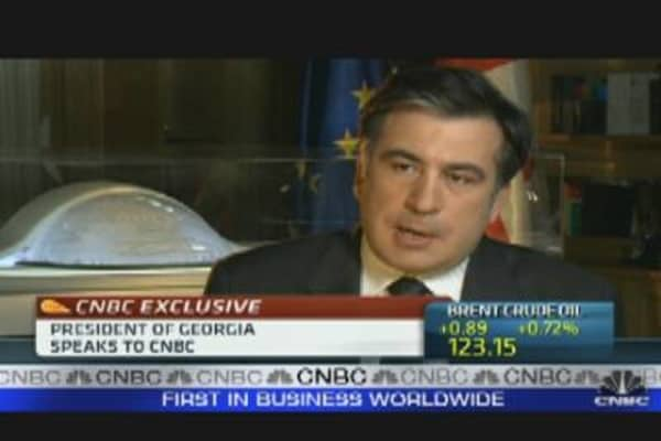 Georgia President on Euro Zone Debt Crisis