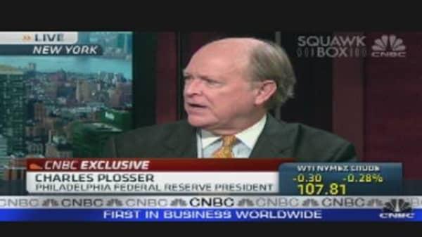Fed's Plosser is Optimistic