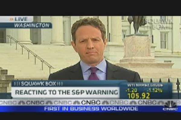 Geithner Responds to S&P Cut