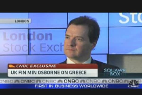 CNBC Exclusive: UK Fin Min on Greece