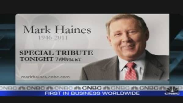 NYSE Pays Tribute to Mark Haines