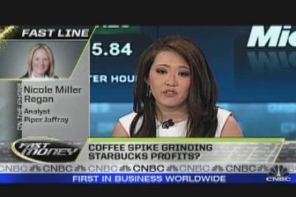 Coffee Spike 'Grinding' SBUX Profits?