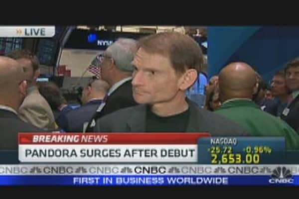 Pandora Opens for trading