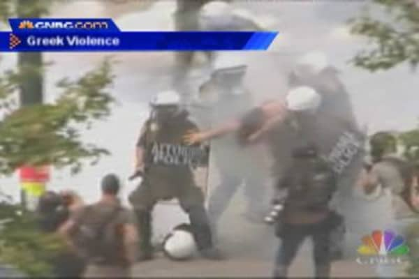Greek Protests Become Violent