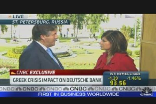 Greek Crisis Impact on Deutsche Bank