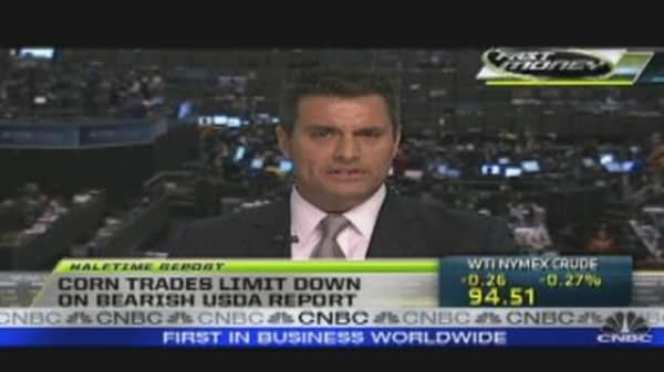 Corn Trades Limit Down