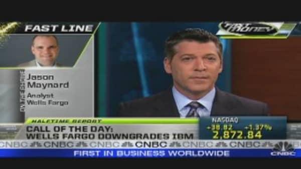 IBM Stock Dips on Downgrade
