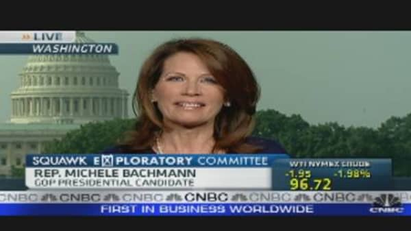 Rep. Bachmann: Voters Care About Job Creation