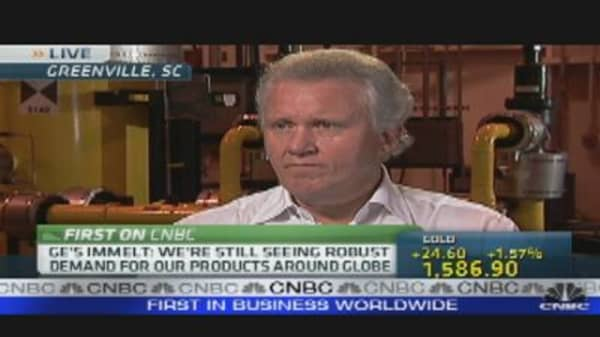 GE CEO Immelt on Economy & Jobs