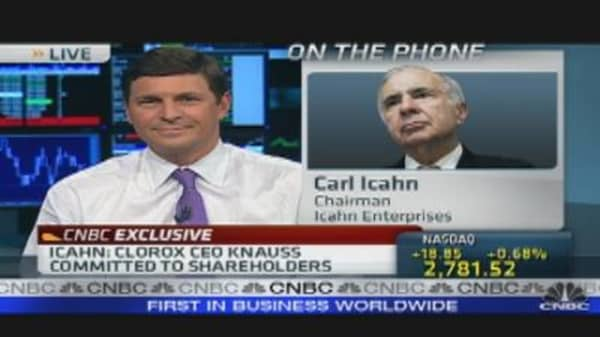 Icahn Bids for Clorox