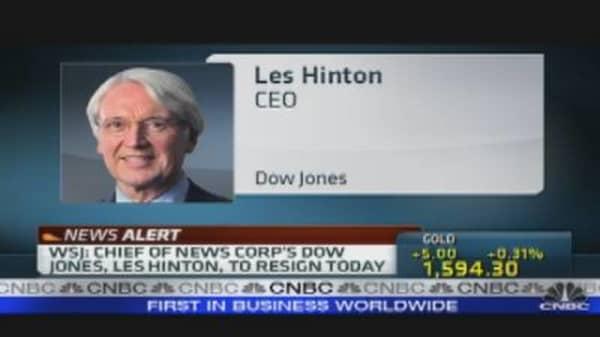 Les Hinton Resigns Dow Jones