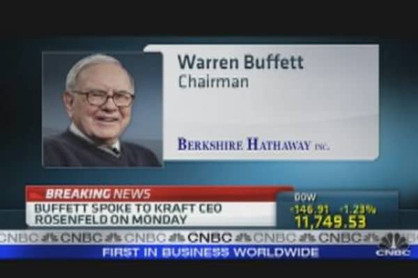 Buffett Weighs in on Kraft Split