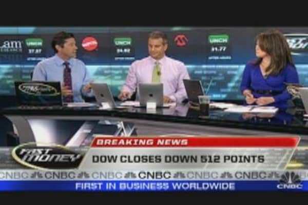 Dow Closes Down 512 Points