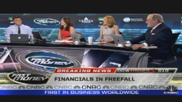 Financials Lead Market Lower