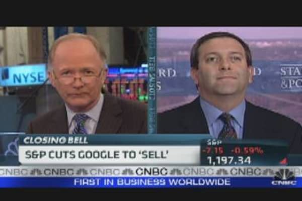 S&P Cuts Google to 'Sell'