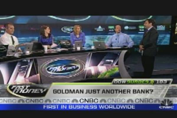 Is Goldman Just Another Bank?