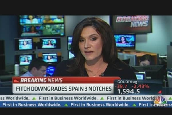 Fitch Downgrades Spain to BBB