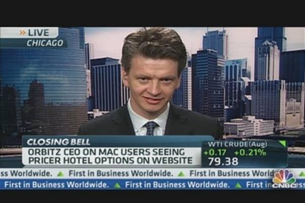 Orbitz CEO on Mac Users Seeing Pricier Hotels