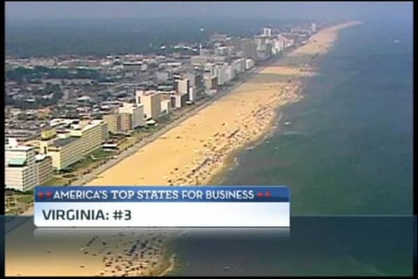 #3 Top State for Business: Virginia