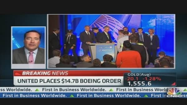 United's $14.7 Billion Boeing Order