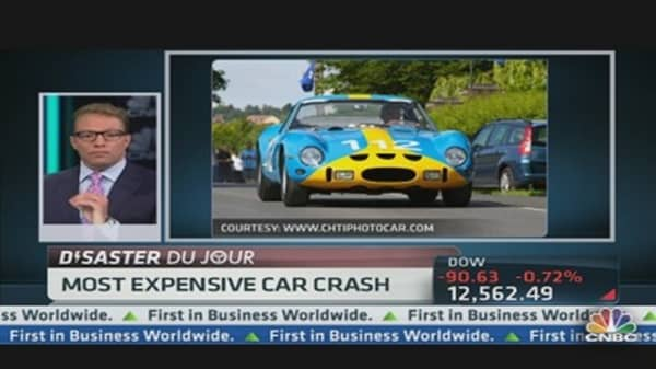Most Expensive Car Wreck Ever?