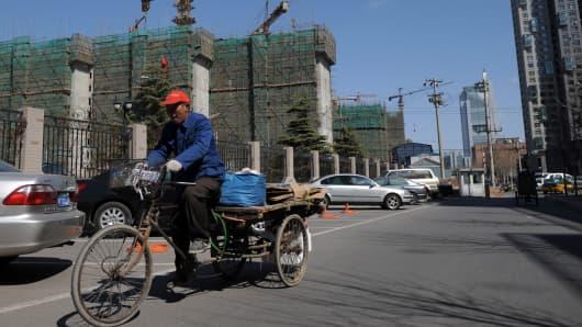 Housing construction in Beijing, China.