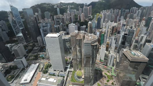 Residential and commercial property in Hong Kong, China.