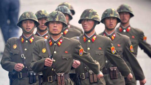 North Korean soldiers.