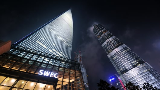 World Financial Center in Shanghai, China