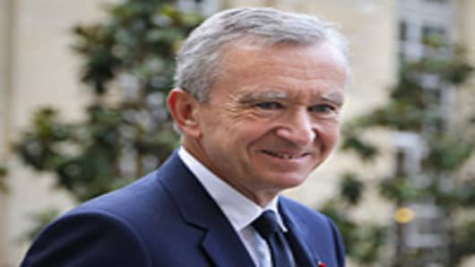 Luxury group LVMH CEO Bernard Arnault.