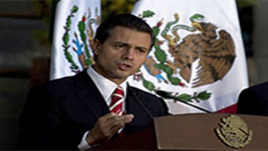 Incoming Mexican president, Enrique Pena Nieto.