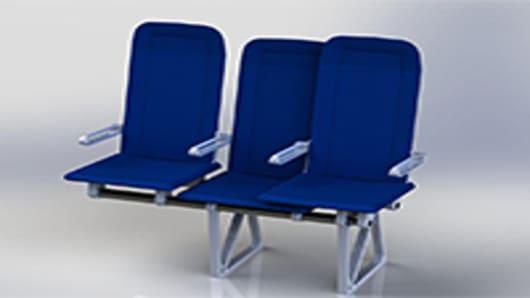 Sliding Jetliner Seat