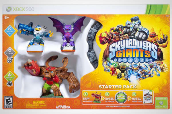 Manufacturer: Activision (ATVI)Suggested Price: $74.99 Skylanders has been a bright spot in a depressed videogame category this year, and there are high hopes for the product's sequel, Giants. One factor that has made Skylanders such as hit for retailers is that kids want to collect the character toys that interact with the game. These characters store a player's experience and also can be played across videogame platforms, making them highly versatile.