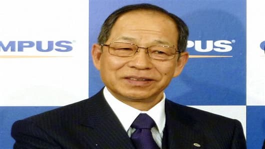 President Tsuyoshi Kikukawa admitted guilt Tuesday, Sept. 25, 2012 in the cover-up scandal. (AP Photo/Kyodo News, File)