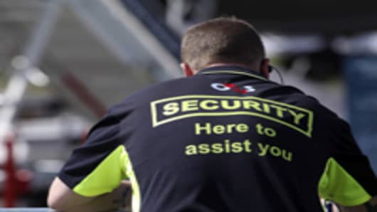 A G4S Plc security officer. The U.K. government said it will deploy troops to provide security at London Olympic venues after G4S Plc, the company with the contract to protect the games, said it wouldn't have enough staff available.