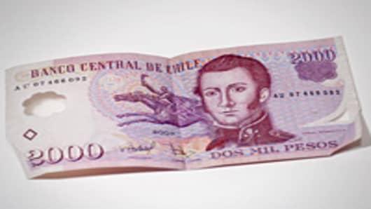 Chilean Pesos bank note.