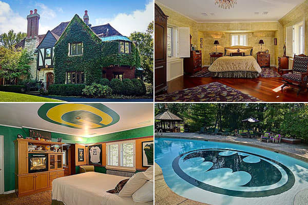 "Location: Hinsdale, Ill. Price: $2.55 millionBedrooms: 4Bathrooms: 4 full, 1 halfSquare footage: 3,754The ivy-covered Tudor 1932 exterior of this, uh, stately  gives no hint that behind the house, the pool has an aquatic bat signal. Zillow  that the sellers' son was a Batman fan as a young lad, so they surprised the lucky boy when he was 3 or 4 by painting the bat symbol at the bottom of the pool. ""A guy came out and freehand drew it, and they [the owners] just kept it over the years,"" the listi"