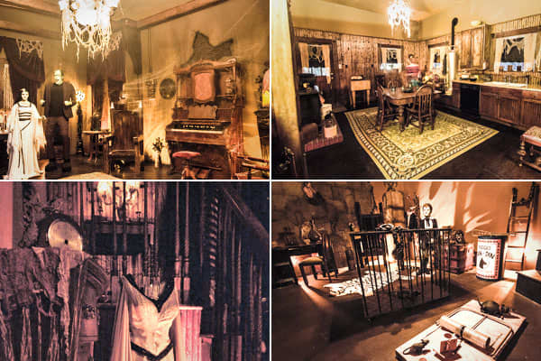 """Location: Waxahachie, Tex.Price: N/ABedrooms: N/A Bathrooms: N/ASquare footage: 5,825The Munster Mansion is the project of Sandra and Charles McKee, superfans of the old sitcom, """"The Munsters,"""" who since 2000 have built and transformed their home to be as close to the one in the classic TV show as possible.To make the mansion, the couple watched recordings of all 70 episodes of the 1960s series, pausing to get down the exact layout and furniture. The FAQ on their  boasts, """"We are always working"""