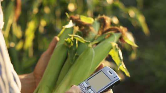 corn farmer cell phone