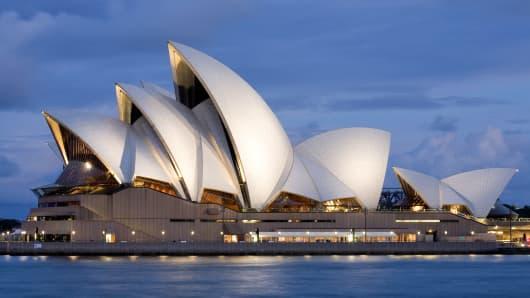 Opera House in Sydney, Australia.