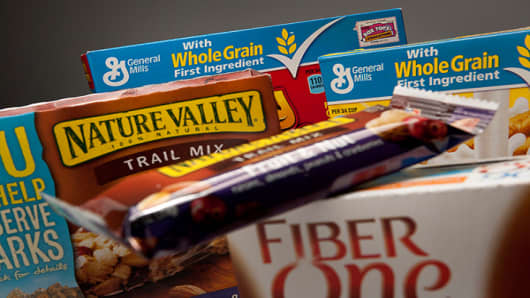 General Mills Ranking: 21Sales: $14.88 billion (year ending May 2011)Acquisition(s): Foods Should Taste Good                    Larabar                    Mountain High Yoghurt                    Cascadian Farm                    Muir Glen